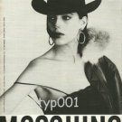 MOSCHINO - 1984 - FASHION PRINT AD- PHOTO BY FABRIZIO FERRI - ITALY