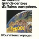 LUFTHANSA - 1974 - MOST CENTRAL EUROPEAN BUSINESS CENTER PRINT AD - IN FRENCH