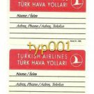 TURKISH AIRLINES - BAGGAGE LABEL