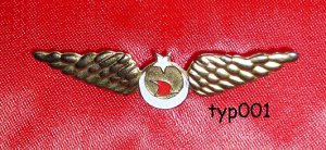TURKISH AIRLINES - VINTAGE METAL KIDDIE WINGS - RARE!