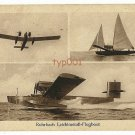 1920'S ROHRBACH METAL ALLOY FLYING BOAT RO III AIRCRAFT POSTCARD - GERMANY