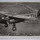 KLM - 1927 FOKKER F-8 H-NAED  REAL PHOTO POSTCARD