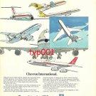 CHEVRON OIL - 1972 AVIATION OIL PRINT AD