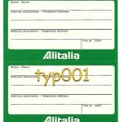 ALITALIA ITALIAN AIRLINES - 1980 -  BAGGAGE LABEL - HIJACK PREVENTION MEASURES