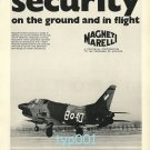 MAGNETTI MARELLI - 1973 -  SECURITY ON GROUND AND IN FLIGHT PRINT AD - ITALY