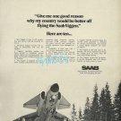SAAB 1973 VIGEN FIGHTER JET PRINT AD