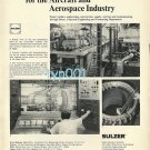 SULZER 1973  CONCORDE TEST FACILITIES & STRÜVER 1973 AIRPORT EQUIPMENT PRINT ADS