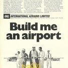 IAL 1973 - BUILD ME AN AIRPORT - DUBAI - PRINT AD