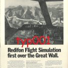 REDIFON - 1973 - FLIGHT SIMULATORS PRINT ADS