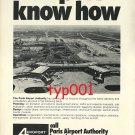 AEROPORT DE PARIS - 1973 AIRPORT KNOW HOW PRINT AD