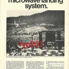 SINGER AEROSPACE 1972  MICROWAVE ILS PRINT AD