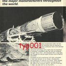 FIAT AVIATION - 1972 - F104S JET ENGINE PRINT AD - IN FOREFRONT OF AEROSPACE TECHNOLOGY