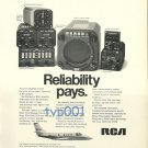 RCA AVIONICS -1973 RELIABILITY PAYS PRINT AD - CESSNA CITATION