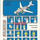 TURKISH AIRLINES - 2001 - AIRBUS A310-300 SAFETY CARD - 02