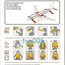 TURKISH AIRLINES - 2004 - AIRBUS A320-200 SAFETY CARD - 01