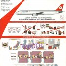 TURKISH AIRLINES - 2009 - AIRBUS A321 SAFETY CARD