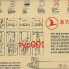 TURKISH AIRLINES - BOEING B737-400 SAFETY CARD - 01