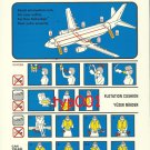 TURKISH AIRLINES - BOEING B737-400 SAFETY CARD - 03