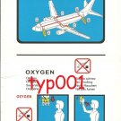 TURKISH AIRLINES - BOEING B737-800 SAFETY CARD - 01