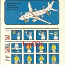 TURKISH AIRLINES - 1998 - BOEING B737-800 SAFETY CARD - 05