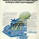 PAN AM - 1975 WHAT'S THE POINT OF CROSSING THE ATLANTIC IN A FEW HOURS PRINT AD