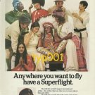 BRITISH AIRWAYS - 1975 - ANYWHERE YOU WANT TO FLY HAVE A SUPERFLIGHT PRINT AD