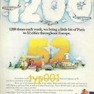 AIR FRANCE - 1975 - BRINGS PARIS TO 52 EUROPEAN CITIES PRINT AD - BLACHON