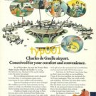 AIR FRANCE - 1975 - CHARLES DE GAULLE AIRPORT PRINT AD - BLACHON