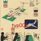 TURKISH AIRLINES -  BRITISH AEROSPACE RJ-100 SAFETY CARD