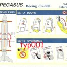 PEGASUS AIRLINES - BOEING B 737-800 SAFETY CARD - 01 - TURKISH