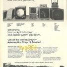 ASTRONAUTICS CORP OF AMERICA - 1973 - COCKPIT EQUIPMENTS AND DISPLAYS PRINT AD