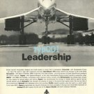 BAC BRITISH AIRCRAFT CORPORATION - 1973 - LEADERSHIP THE CONCORDE PRINT AD