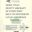 LUCAS AEROSPACE - 1973 - MORE THAN 80 AIRCRAFT RELY ON SYSTEMS BY LUCAS PRINT AD