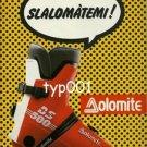 DOLOMITE - 1987 SLALOM THEMES - SKI BOOTS PRINT AD