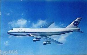 PAN AM - 1970 POSTCARD B-747 PU FRANCE TO TURKEY