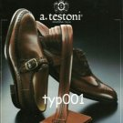 A. TESTONI - 1984 MEN'S FASHION SHOES PRINT AD