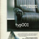 BUSNELLI - 1984  DESIGNER FURNITURE PRINT AD - SFDA AMERICAS CUP YACHT RACE