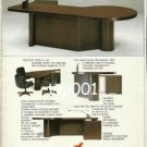 FARAM - 1984  DESIGNER OFFICE FURNITURE PRINT AD