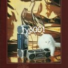 SANYO  - 1984 -  CUBIC SOUND PRINT AD - BEAUTIFUL VAN CAT