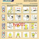SKY AIRLINES - BOEING B737-400 SAFETY CARD - 2 - BANKRUPT TURKISH AIRLINE