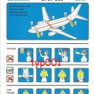 SKY AIRLINES - BOEING B737-800 SAFETY CARD - BANKRUPT TURKISH AIRLINE