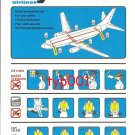 SKY AIRLINES - BOEING B737-400 SAFETY CARD - 3 - BANKRUPT TURKISH AIRLINE