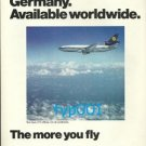 LUFTHANSA - 1975 - FLIGHTS MADE IN GERMANY AVAILABLE WORLDWIDE PRINT AD - DC-10