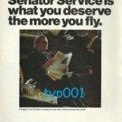 LUFTHANSA - 1975 - YOU DESERVE SENATOR SERVICE PRINT AD