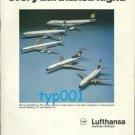 LUFTHANSA - 1975 -  FIRST CLASS ON EVERY FLIGHT PRINT AD