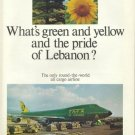 TMA LEBANON - 1975 - WHAT'S GREEN AND YELLOW AND THE PRIDE OF LEBANON PRINT AD
