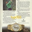 ROLEX - 1975 - ARNOLD PALMER THE GOLF KING PRINT AD - ROLEX DAY DATE