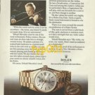 ROLEX - 1975 - HOW YEHUDI MENUHIN KEEPS TIME PRINT AD - ROLEX DAY DATE