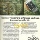 OMEGA - 1975 -THE CLOSER YOU COME TO AN OMEGA THE MORE BEAUTIFUL IT IS  PRINT AD