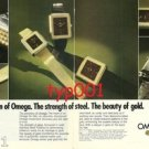 OMEGA - 1976 - DE VILLE - THE PRECISION OF OMEGA THE BEAUTY OF GOLD PRINT AD